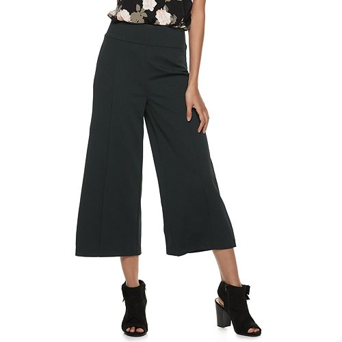 Juniors' Candie's® Cropped Wide Leg Pull On Pants
