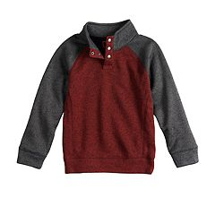 Boys 4-12 SONOMA Goods for Life™ Pullover Mock Neck Raglan Sweater