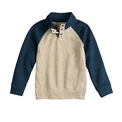Boys 4-12 SONOMA Goods for Life™ Pullover Mock Neck Raglan Sweater