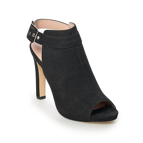 madden NYC Ruee Women's Peep Toe Ankle Boots