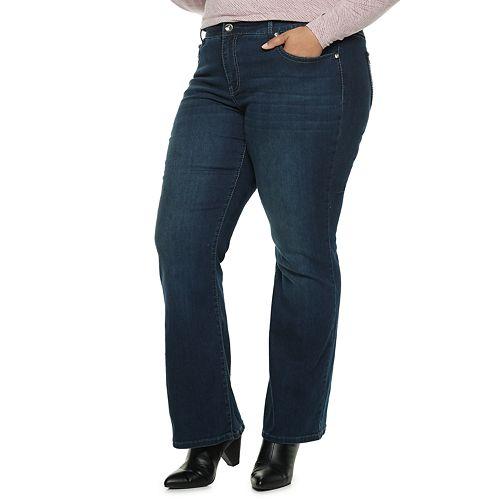 Plus Size Apt. 9® Embellished MidRise Bootcut Jeans