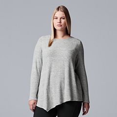 Plus Size Simply Vera Vera Wang Asymmetrical Top