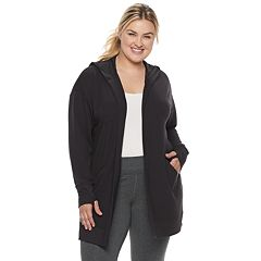 Plus Size Tek Gear® Hooded Wrap Cardigan