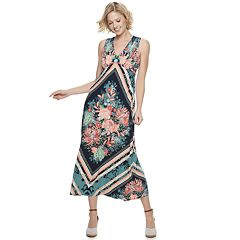 Petite Suite 7 Floral Print Maxi Dress