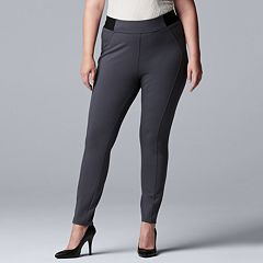 cf4001c572c1c Plus Size Simply Vera Vera Wang Everyday Luxury Scuba High-Waisted Skinny  Pants
