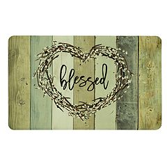Mohawk® Home Wood Look 'Blessed' Kitchen Mat