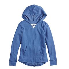 Girls 7-16 & Plus Size SO® Lace-Up Tunic Hoodie