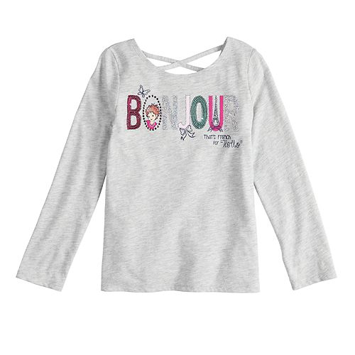 "Disney's Fancy Nancy Girls 4-10 ""Bonjour"" Glittery Graphic Tee by Jumping Beans®"