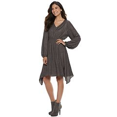 Women's Jennifer Lopez Smocked Fit & Flare Dress