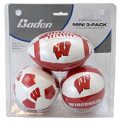 Baden Wisconsin Badgers 3-Pack Mini Ball Set