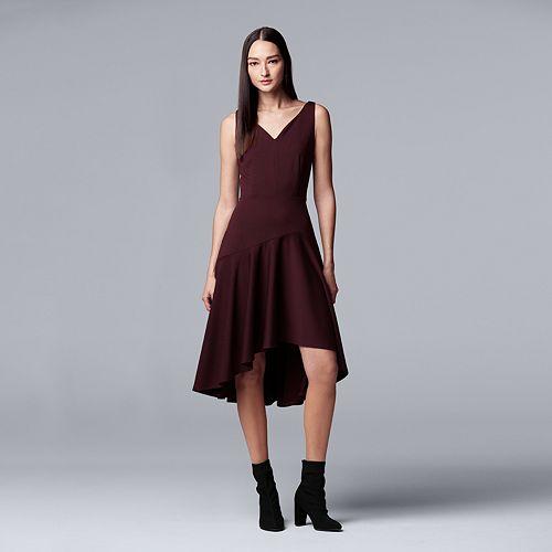 Women's Simply Vera Vera Wang Asymmetrical Hem Ponte Dress
