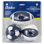 Baden Penn State Nittany Lions 3-Pack Mini Ball Set