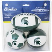 Baden Michigan State Spartans 3-Pack Mini Ball Set
