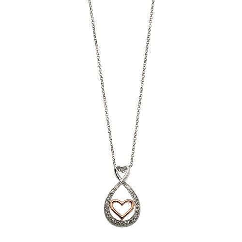Brilliance Infinity Heart Necklace with Swarovski Crystals