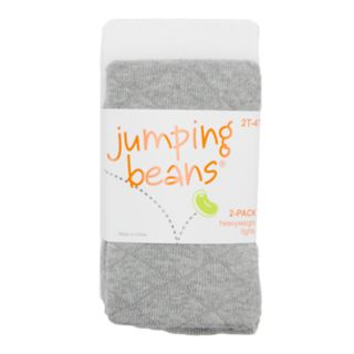 Baby / Toddler Girl Jumping Beans® 2-pack Heavyweight Diamond-Kint Tights