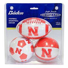 Baden Nebraska Cornhuskers 3-Pack Mini Ball Set