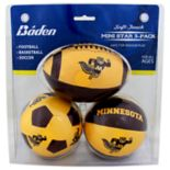 Baden Minnesota Golden Gophers 3-Pack Mini Ball Set