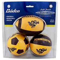 Baden Minnesota Golden Gophers 3-Pack Mini Ball Set