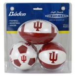 Baden Indiana Hoosiers 3-Pack Mini Ball Set