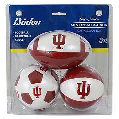 Baden Indiana Hoosiers 3-Pack Mini Ball Set