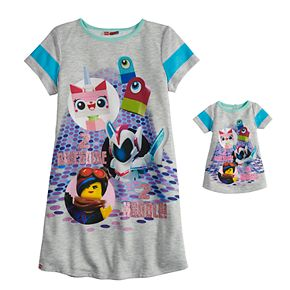 Girls 4-12 The Lego Movie 2 Dorm Nightgown & Matching Doll Nightgown