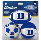 Baden Duke Blue Devils 3-Pack Mini Ball Set