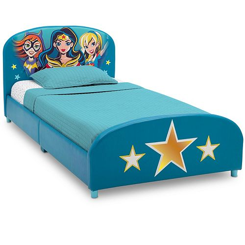 Delta Children DC Super Hero Girls Upholstered Twin Bed