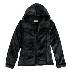 Girls 7-16 SO® Sherpa High Pile Hooded Jacket