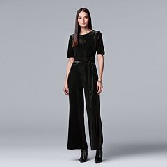 Women's Simply Vera Vera Wang Wide-Leg Velvet Jumpsuit