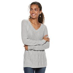 Petite SONOMA Goods for Life™ Trellis Cable-Knit Sweater