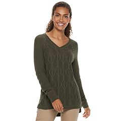 76d5f730cb5f2f Cardigan. Petite SONOMA Goods for Life™ Trellis Cable-Knit Sweater