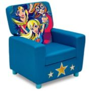 Delta Children DC Super Hero Girls High Back Upholstered Chair