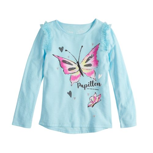 Disney's Fancy Nancy Toddler Girl Glittery Butterfly Graphic Tee by Jumping Beans®