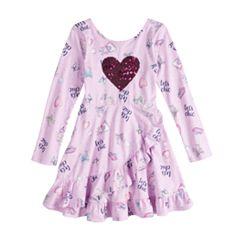 Disney's Fancy Nancy Toddler Girl Sequin Heart Ruffle Dress by Jumping Beans®
