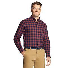 Men's IZOD Slim-Fit Plaid Flannel Button-Down Shirt