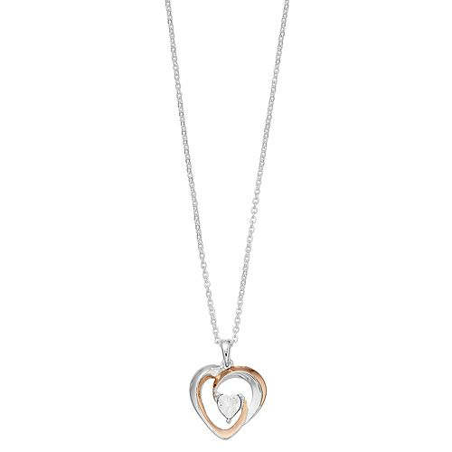 "Brilliance ""Grandma"" Intertwined Heart Necklace with Swarovski Crystals"