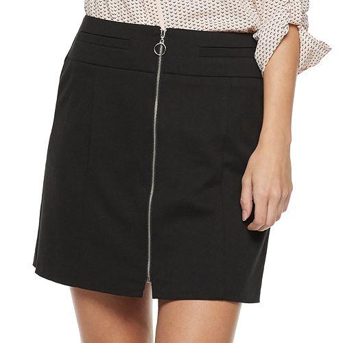 Juniors' Candie's® Zip Front Mini Skirt