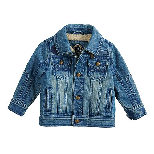 Baby Boy Urban Republic Sherpa-Lined Denim Jean Jacket