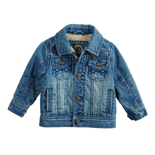 Toddler Boy Urban Republic Sherpa-Lined Denim Jean Jacket