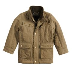 Baby Boy Urban Republic Quilted Military Midweight Jacket