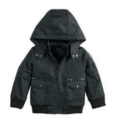 Baby Boy Urban Republic Ballistic Hooded Bomber Midweight Jacket