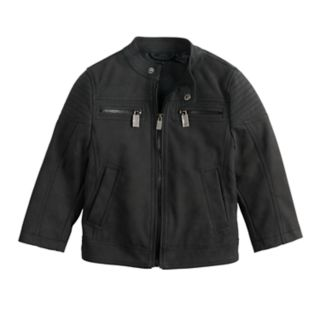 Baby Boy Urban Republic Sueded Faux-Leather Moto Jacket