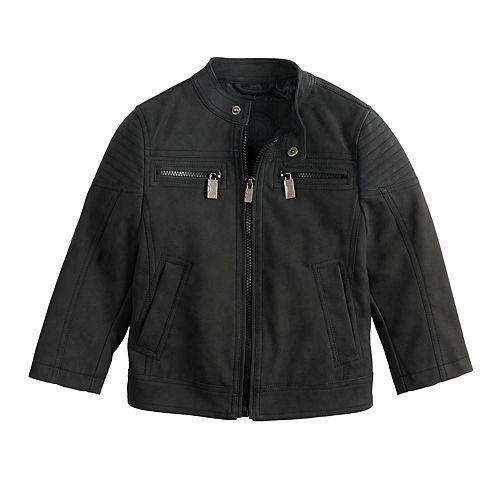 Baby Boy Urban Republic Sueded Faux-Leather Moto Jacket