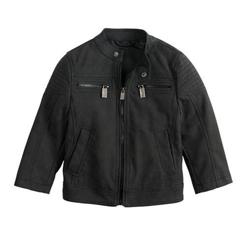 Toddler Boy Urban Republic Sueded Faux-Leather Moto Jacket