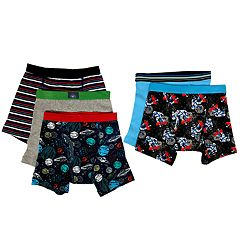 Boys 4-10 Up-Late 5-Pack Space Boxer Briefs