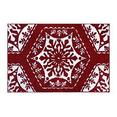 St. Nicholas Square® Christmas Traditions Fancy Snowflakes Bath Rug
