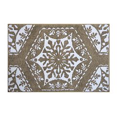St. Nicholas Square® Christmas Traditions Fancy Snowflakes Bath Rug