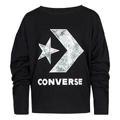 Girls 7-16 Converse Star Chevron Print Long Sleeve Tee