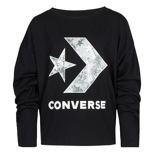 Girls 7-16 Converse Star Chevron Print Long Sleeve Tee