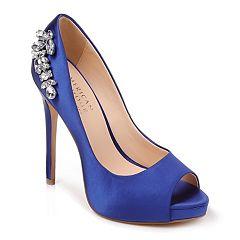 090da4bb15c0 American Glamour by Badgley Mischka Elizabeth Women s Platform High Heels.  Blue Gray